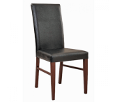 Fully Upholstered Wood Look Metal Restaurant Chair