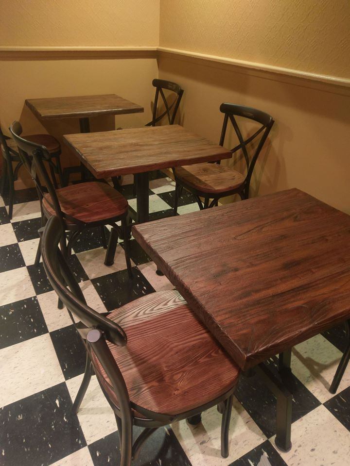 Hand Distressed Rectangular Solid Reclaimed Wood Dining