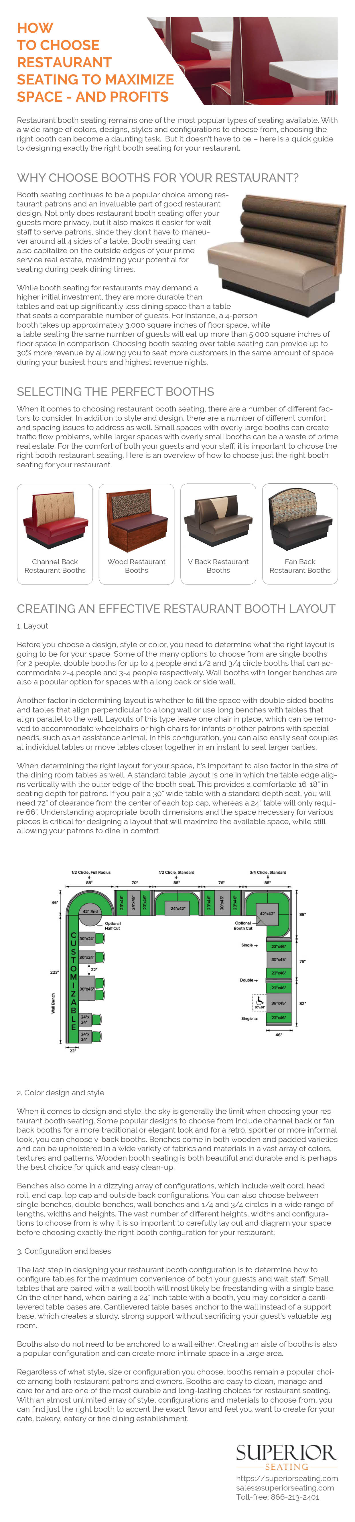 Restaurant Booth Size and Spacing Standards